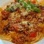 Spaghetti uit het Italiaans Buffet