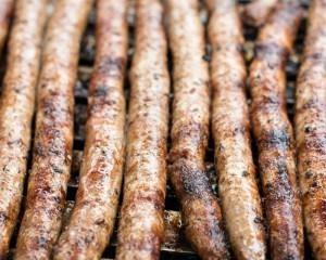 Merques worstjes van de barbecue